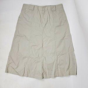EDDIE BAUER Tan Cotton Skirt Size 14P 14 Petite